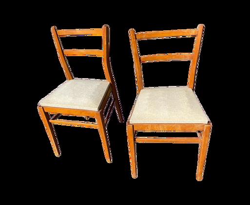 Paire de chaises 50/60