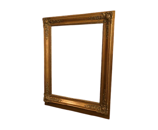 Miroir doré ancien Napoléon III 88 x 66 cm