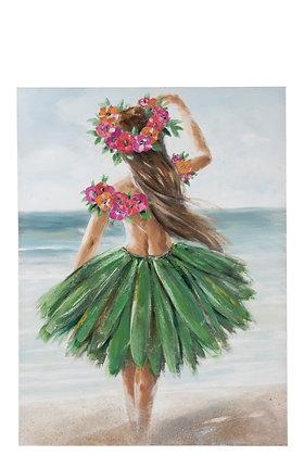 Tableau femme Hawaï