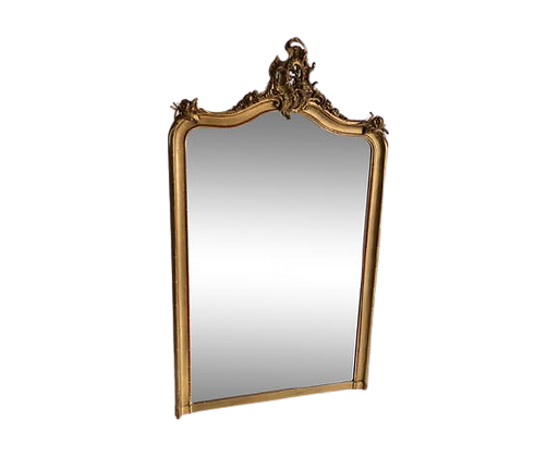 Miroir 19e biseauté doré 170 x 100 cm