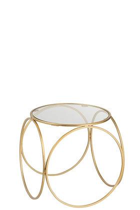 Table basse cercle doré