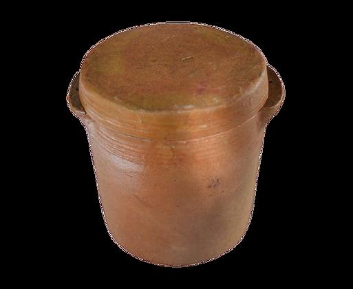 Pot en grés avec couvercle