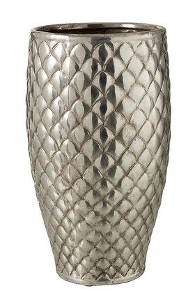 Grand vase métal argenté