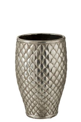 Vase métal argenté