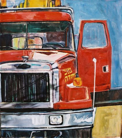 Frontal Red Truck, 2002