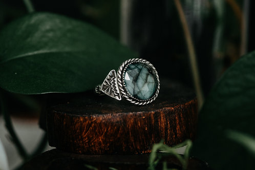 Emerald Stamped Ring