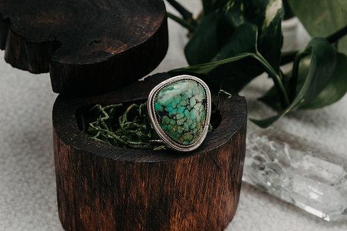 Turquoise & Vine Ring