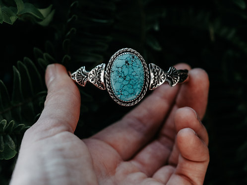 Turquoise Stamped Cuff