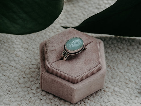 Aquamarine Horizontal Ring