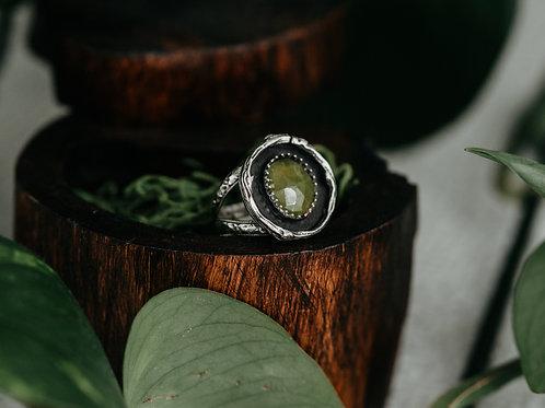Vesuvianite Twig Ring