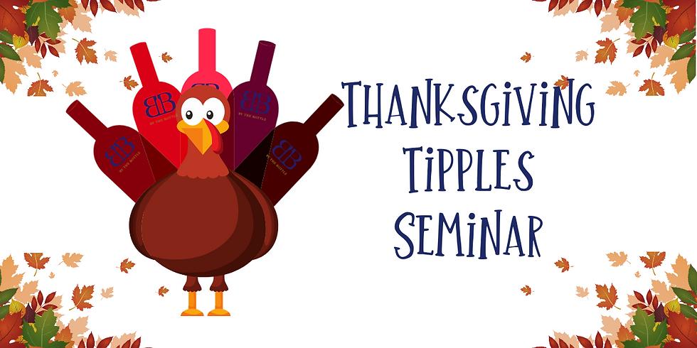 Thanksgiving Tipples Seminar