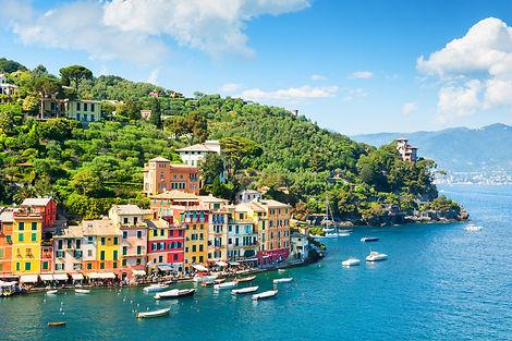 Beautiful sea coast with colorful houses