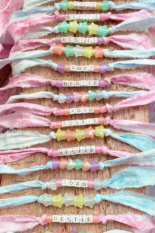 Shabby For Me x Tie Dye for a Good Cause Ribbon Bracelets