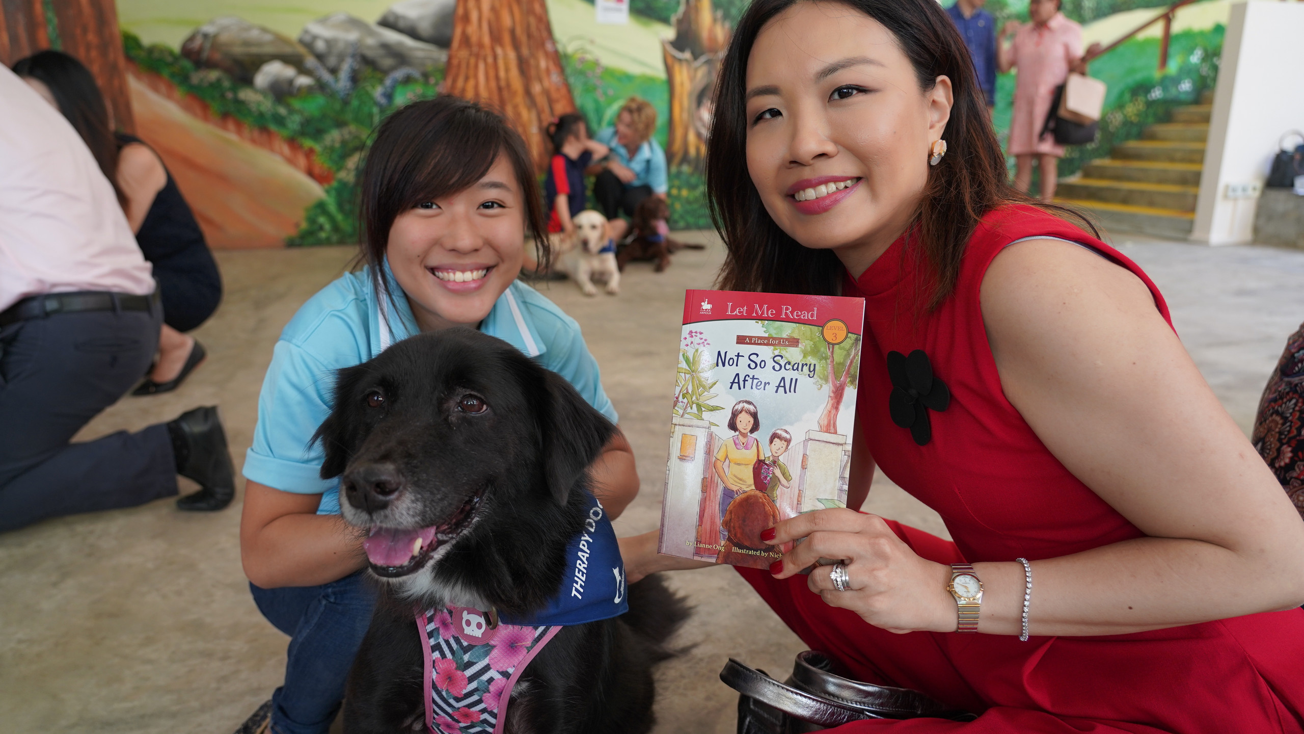 With Therapy Dogs Singapore