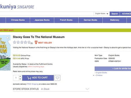 We're on Books Kinokuniya Singapore's bestseller list?!