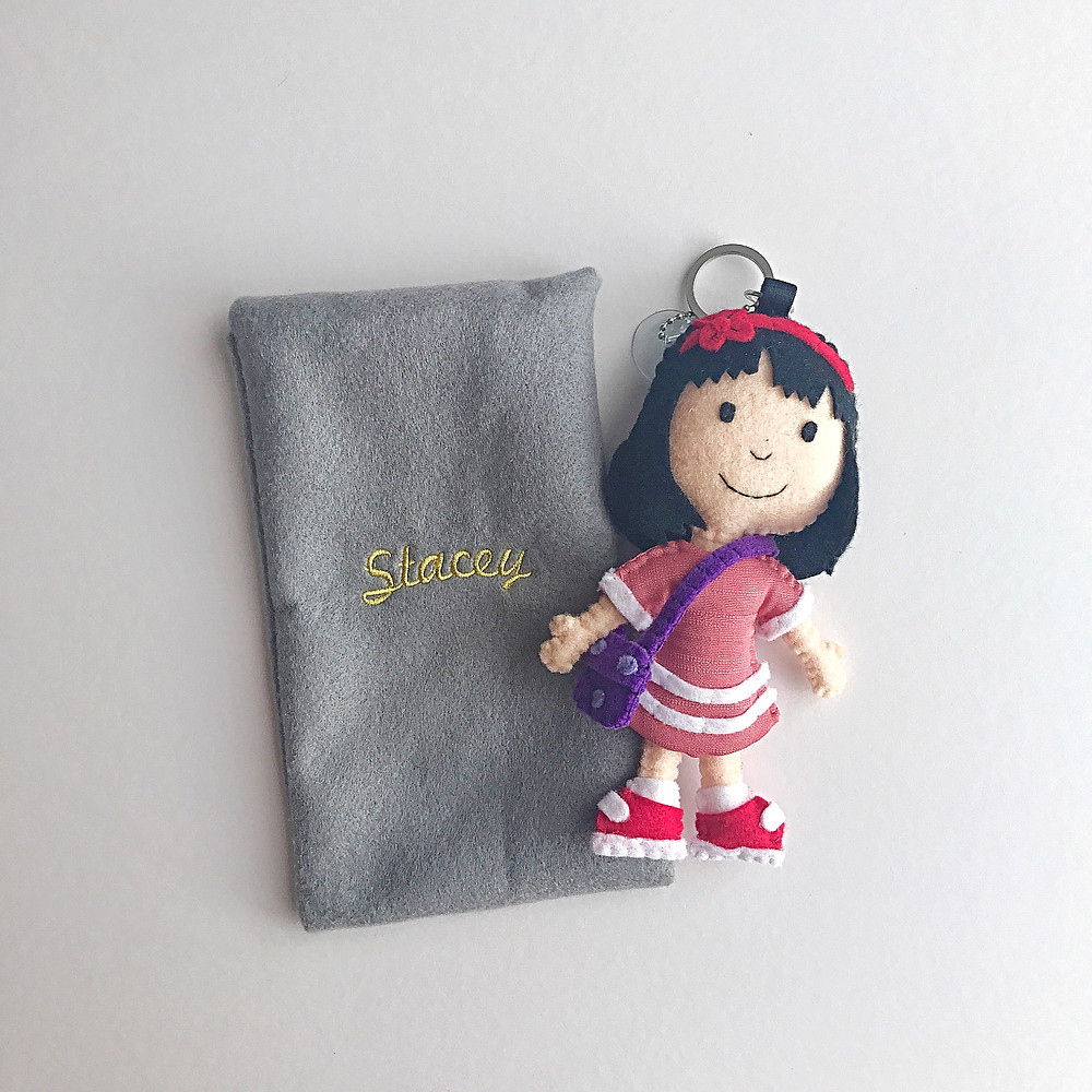 Stacey doll and keychain