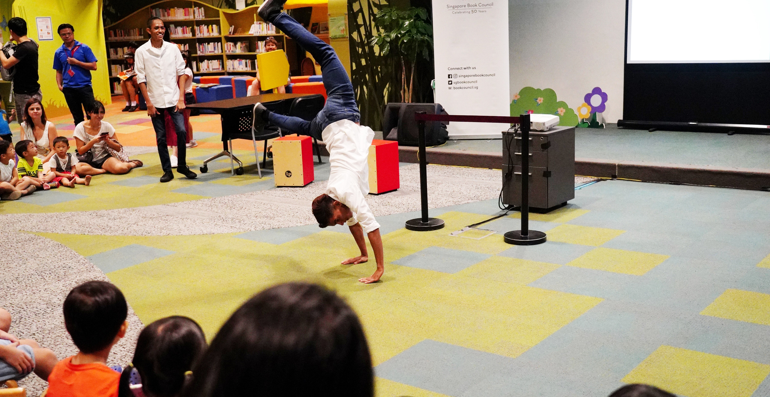 Breakdancing in the library