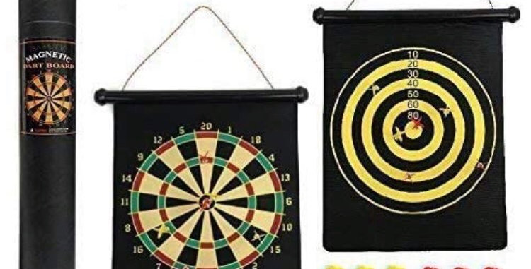 Magnetic Hanging Dartboard (Double Sided)