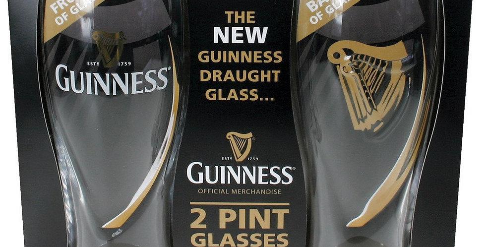 Guinness 2 Pint Harp Glass (Set of 2)