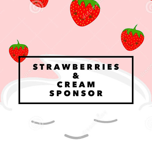 strawberries & cream sponsor
