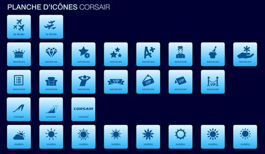 Planche d'icônes Corsair