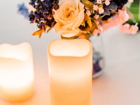 Wedding Decor Tip | Candles