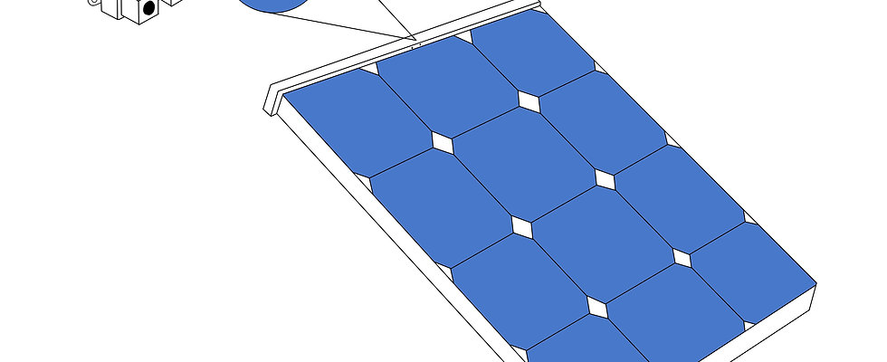 Snowmelting solar panel 50W