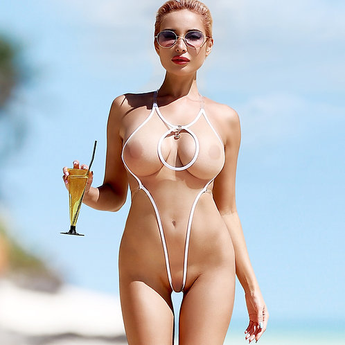 Сексуальный прозрачный экстрим купальник сетка Горячее экстремальное откровенное монокини с открытой спиной Мини стринги