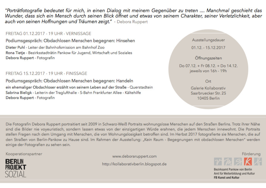 Invitation; Einladung: Vernissage