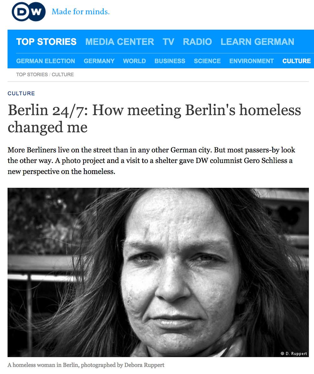 Homeless women; Berlin