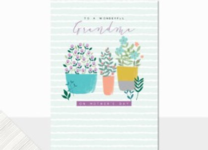 To A Wonderful Grandma On Mother's Day Card