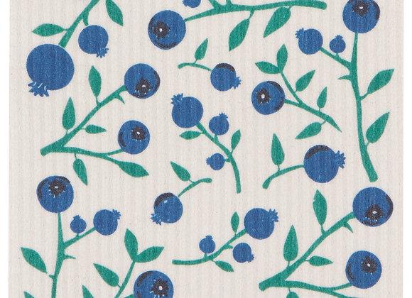 Swedish Dishcloth Blueberries