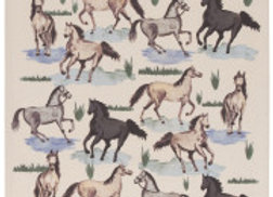All The Pretty Horses Tea Towel