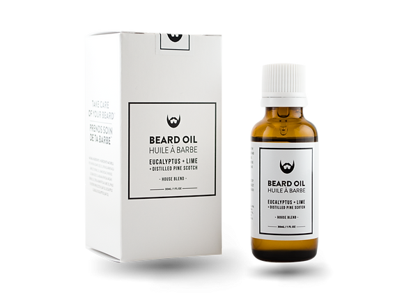 Beard Oil Eucalyptus, Lime With Distilled Pin Scotch Needle