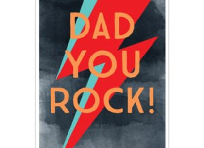 Dad You Rock Card