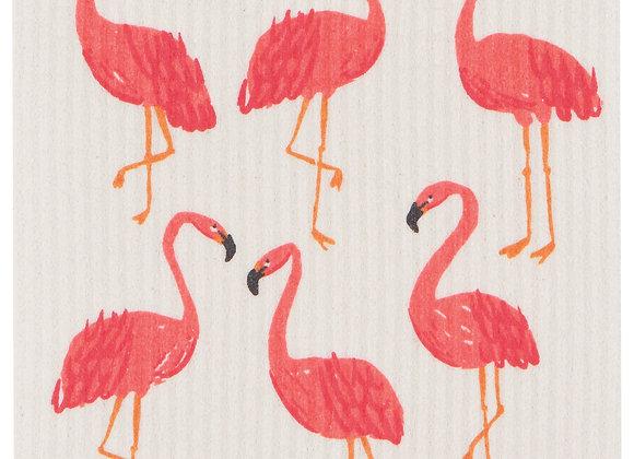Swedish Dishcloth Flamingos