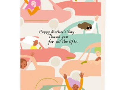 Taxi Mother's Day Card