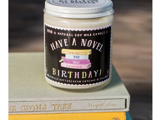 Have a Novel Birthday 8oz Candle - My Weekend is Booked