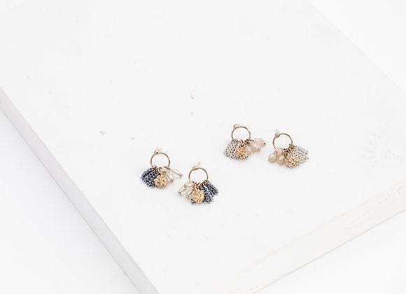 Jardin Cluster Hoop Earrings