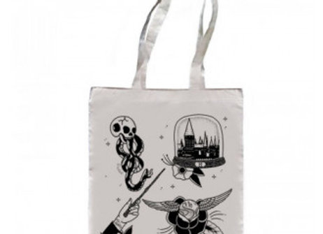 Magic Wand Tattoo Harry Potter Tote Bag