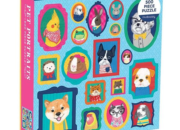 Pet Portraits 500 Piece Puzzle