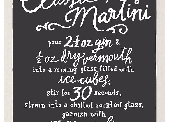 Swedish Dishcloth Classic Martini
