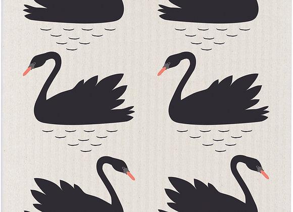 Swedish Dishcloth Swan Lake