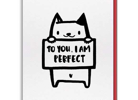 I Am Perfect Card