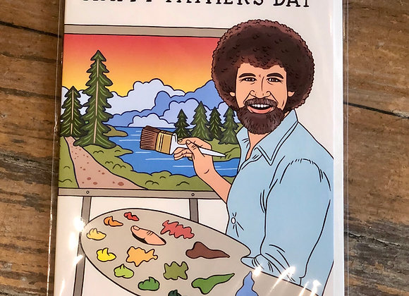 Father's Day Bob Ross Card