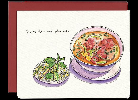 One Pho Me Love Card