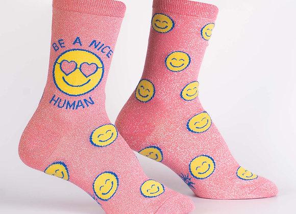 Be A Nice Human Socks