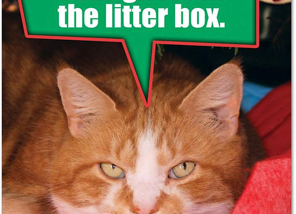 Your Gift Is In The Litter Box Christmas Card