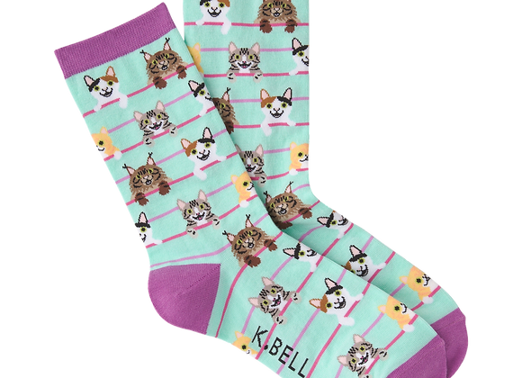 Cats on a Wire - Socks