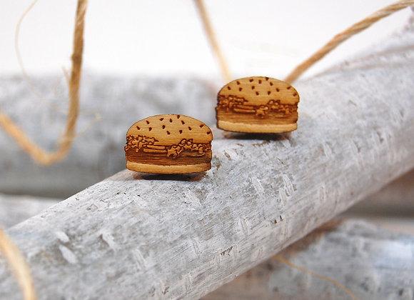 Burger Studs In Birch Wood